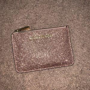 MK rose gold ID wallet